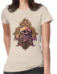 Skull Art Womens Fitted T-Shirt