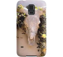 LONGHORNED BULL'S HEAD WITH VINE Samsung Galaxy Case/Skin