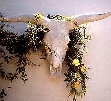 LONGHORNED BULL'S HEAD WITH VINE by JAYMILO