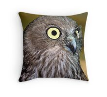 Barking owl Throw Pillow