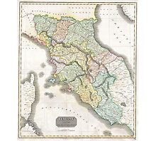 Vintage Map of Tuscany Italy (1814) Photographic Print