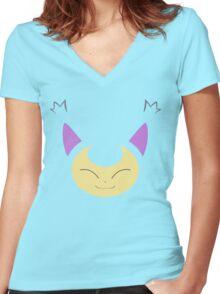 Pokemon - Skitty / Eneko Women's Fitted V-Neck T-Shirt