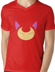 Pokemon - Skitty / Eneko Mens V-Neck T-Shirt