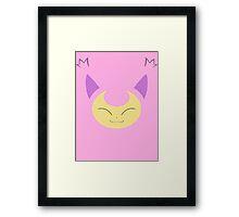 Pokemon - Skitty / Eneko Framed Print