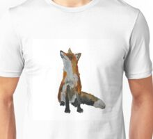 The Fox Woodland Wild Animal Contemporary Acrylic Painting White Edit Unisex T-Shirt