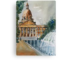 Fountain Side Canvas Print