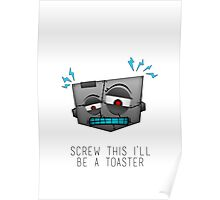 Confused Robot Poster