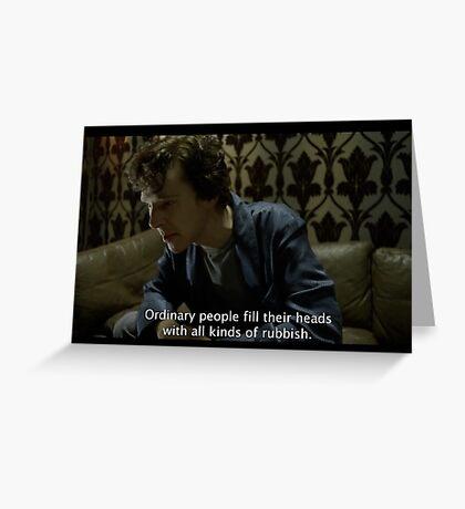 sherlock tv show  Greeting Card