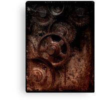 old industrial gears shady Canvas Print