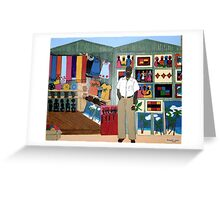 Market Stall in Dominican Republic Greeting Card