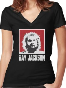 RAY JACKSON - BLOODSPORT MOVIE Women's Fitted V-Neck T-Shirt