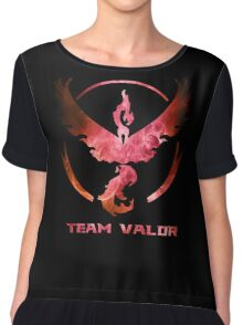 The Red Team Chiffon Top