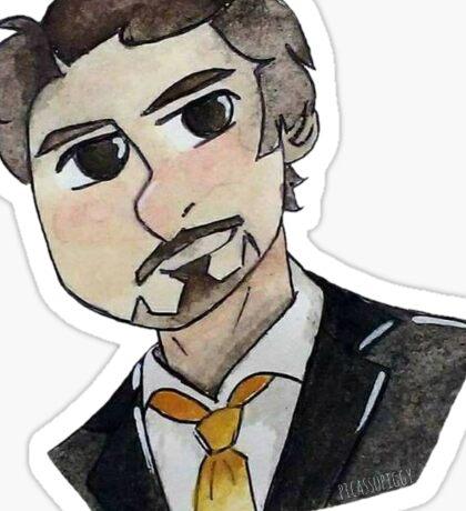 Robert Downey Jr. Cartoon Sticker