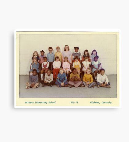 1972-1973, WESTERN ELEM. SCHOOL, HICKMAN, KY Canvas Print