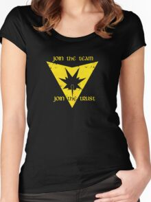 Join the trust Women's Fitted Scoop T-Shirt