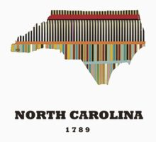 north carolina state map Kids Clothes