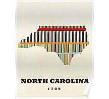 north carolina state map Poster