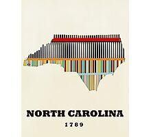 north carolina state map Photographic Print