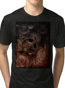old industrial gears shady Tri-blend T-Shirt