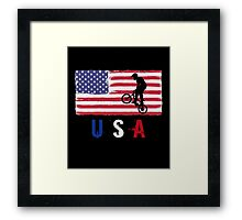 USA Mountain biking 2016 competition cycling funny t-shirt Framed Print