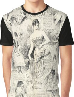 Vintage French Ladies Graphic T-Shirt