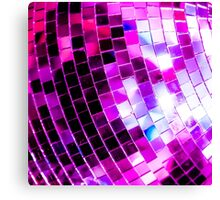 Purple Disco Ball Canvas Print