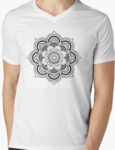 Lotus Mandala Mens V-Neck T-Shirt