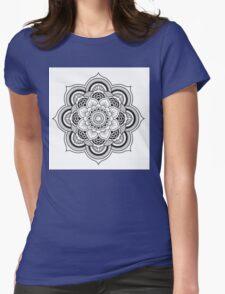 Lotus Mandala Womens Fitted T-Shirt