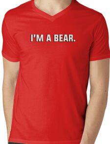 """I'm a bear."" - gay couple's tshirt Mens V-Neck T-Shirt"