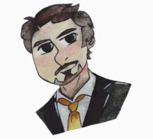 Robert Downey Jr. Cartoon Kids Tee