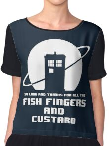 Fish Fingers and Custard Women's Chiffon Top