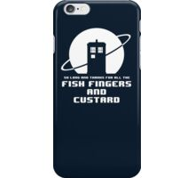 Fish Fingers and Custard iPhone Case/Skin