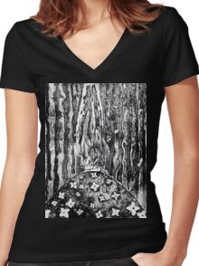 Despair of Gaia Women's Fitted V-Neck T-Shirt