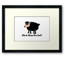 Chinese New Year Black Sheep Are Cool Framed Print