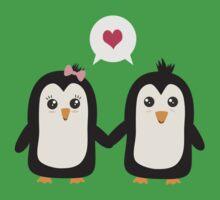 Penguins in love Kids Tee