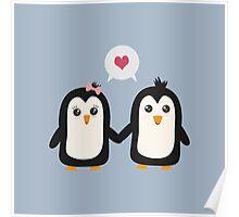Penguins in love Poster