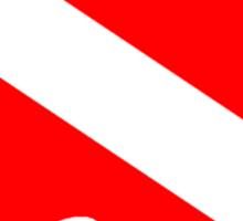 Diver Down Flag Australia Sticker