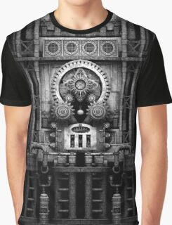 Infernal Steampunk Machine #3 Monochrome Graphic T-Shirt