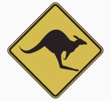 Kangaroo Warning by youngmanwebsite