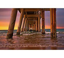 Rainbow pier Photographic Print