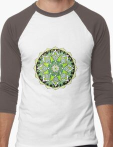 Green mandala Men's Baseball ¾ T-Shirt