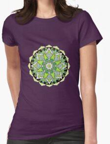 Green mandala Womens Fitted T-Shirt