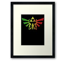 Rasta Triforce Framed Print