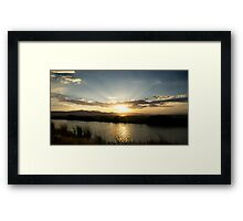 Sunrays and sunset Framed Print
