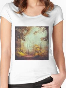 silent forest Women's Fitted Scoop T-Shirt