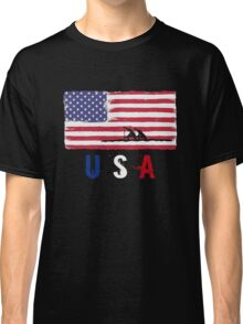 USA Rowing 2016 competition row boat racing funny t-shirt Classic T-Shirt