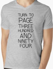 SNAPE Turn To Page 394 Mens V-Neck T-Shirt