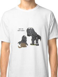 Funny Who's the puppy's daddy? Classic T-Shirt