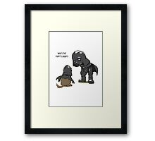 Funny Who's the puppy's daddy? Framed Print