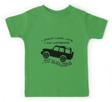 Listening but Off-Road Kids Tee